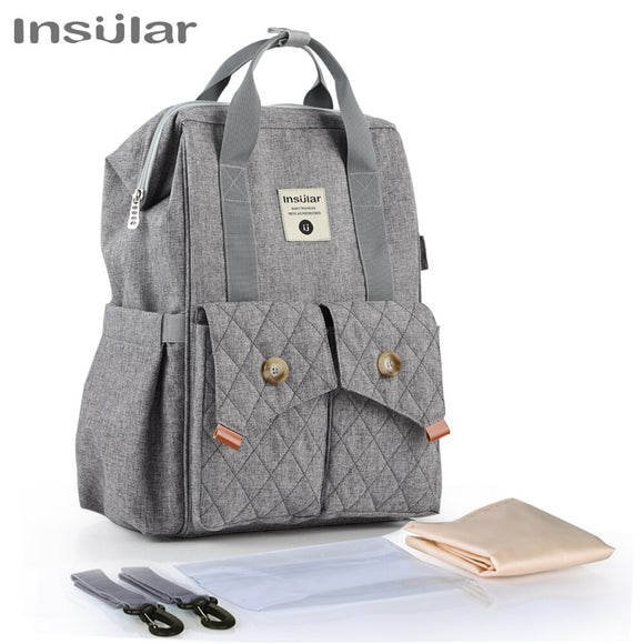 Baby Bags Nappy Backpack Bag Large Capacity Stroller Bag Multi-function Waterproof Outdoor Mummy Travel Diaper Bags Insular