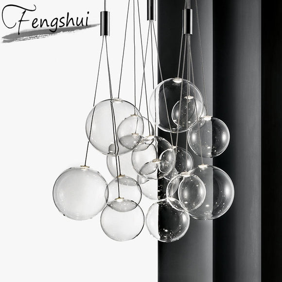 Nordic Glass bubble Pendant Lights Lighting Bar Pendant Lamp Dining Living Room Bedroom Loft Home Decor Hanging Light Fixture