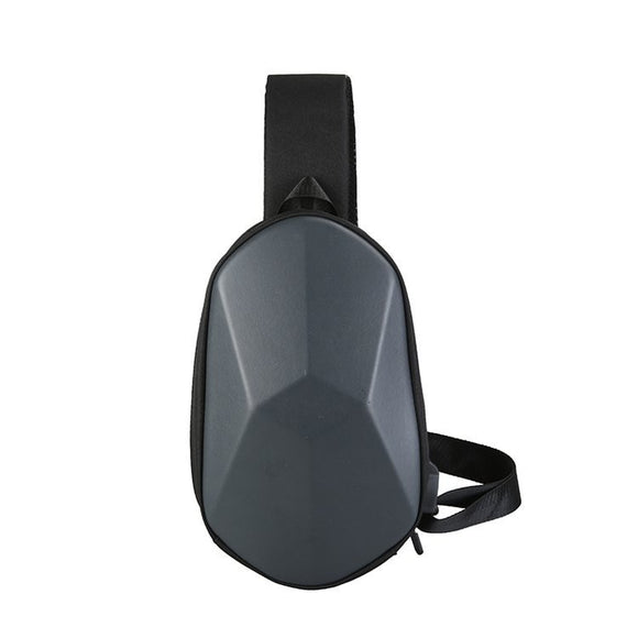 Men's chest bag is simple and generous slanting and straddling bag 2020 new casual and versatile chest bag charging USB