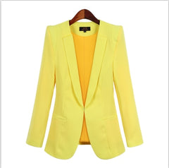 Women Blazers New Spring Autumn Casual Office Suits Slim Solid Female Jacket