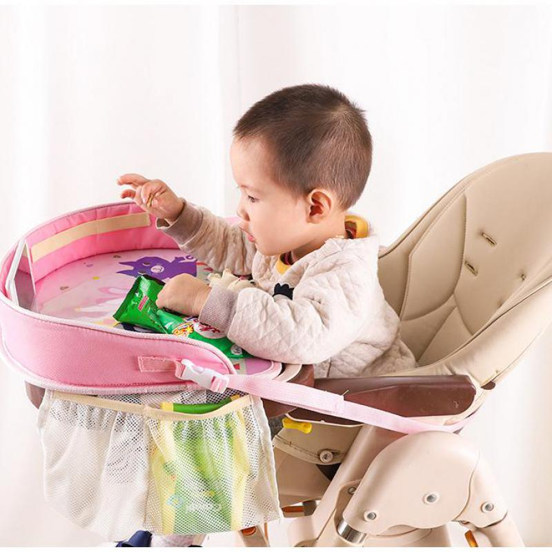 Car Table Kids Waterproof Table Car Seat Tray Storage Kids Toys Baby Fence Children Dining Drink Table In-car Accessories