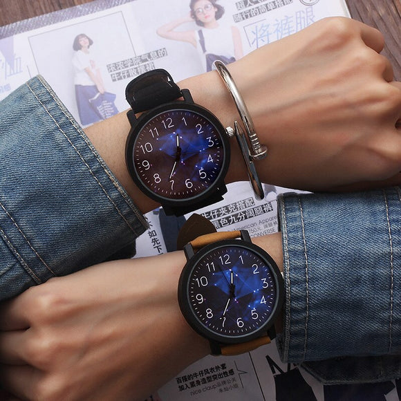 часы Fashion High Quality Couple Watch Simple Trend Creative Men and Women Students Retro Couple Watch No  bangle
