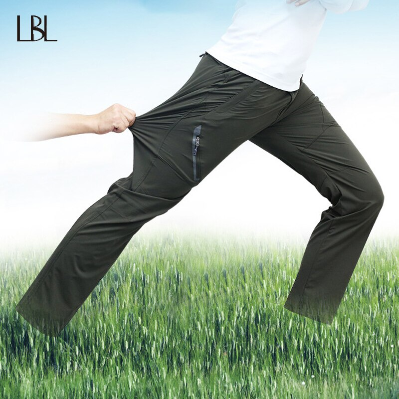 Stretch Hiking Pants Men Summer Quick Dry Trousers Mens Outdoor Hiking Climbing Camping Pants Male Casual Fashion Sweatpants