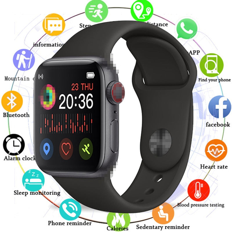 2020 Smart Watch Men Full Touch Waterproof Smartwatch Blood Pressure Fitness Tracker Watch Women Smart Clock For Android IOS