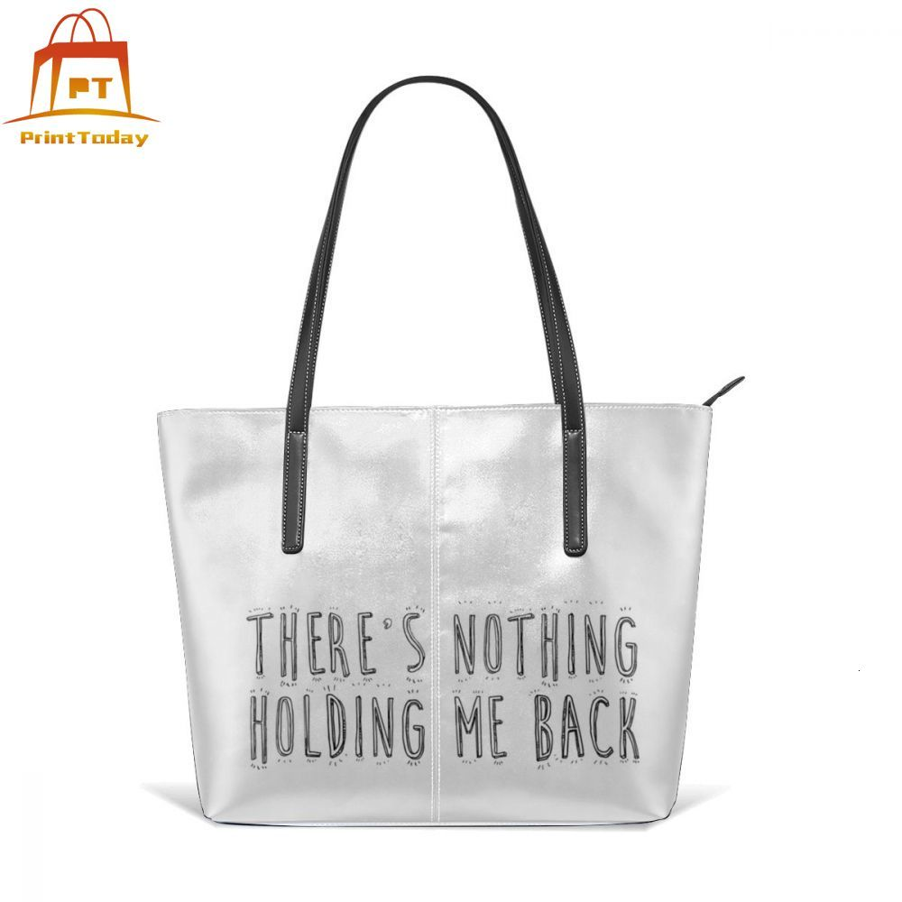 Shawn Mendes Illuminate Handbag Theres Nothing Holding Me Back Top-handle Bags Wide Teenage Leather Tote Bag Women Handbags