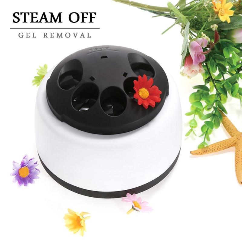 Nail Art Electric Steam off Gel Polish Removal Machine Steamer Professional Nail Polish Steamer Remover Machine Nail Salon TSLM2