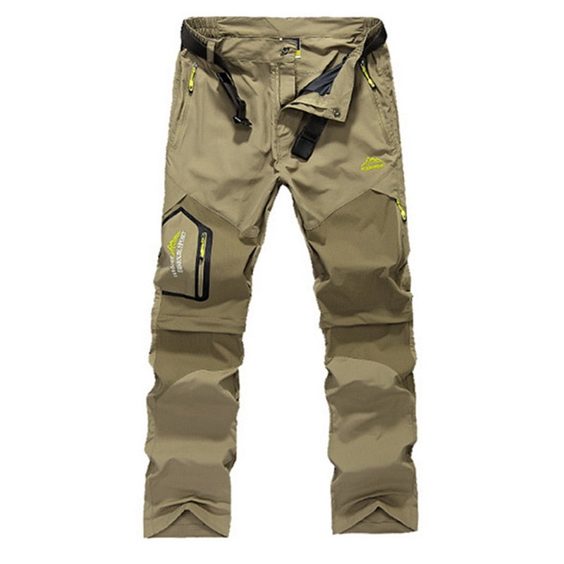 Men Stretch Waterproof Camping Hiking Pants Outdoor Sport Trousers Trekking Mountain Climbing Fishing Plue Size 6XL