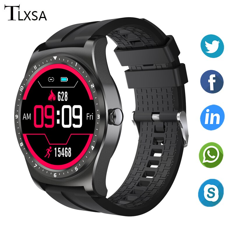 Mens Smart Sports Watches 2020 Full Round Screen Touch Message Alert Heart Rate Monitor Health Smartwatch Women Fit Android IOS