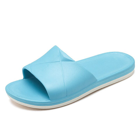 Blue Drink Water Bubble Slippers Indoor Slip-On Sandals Flat Sleeppers Shoes Custom Flip-Flops Adults