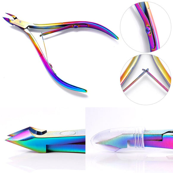 BORN PRETTY Nail Cuticle Clipper Rainbow Nipper Scissor Dead Skin Remover Nail Striping Tape Line Cutter  Nail Art Tool