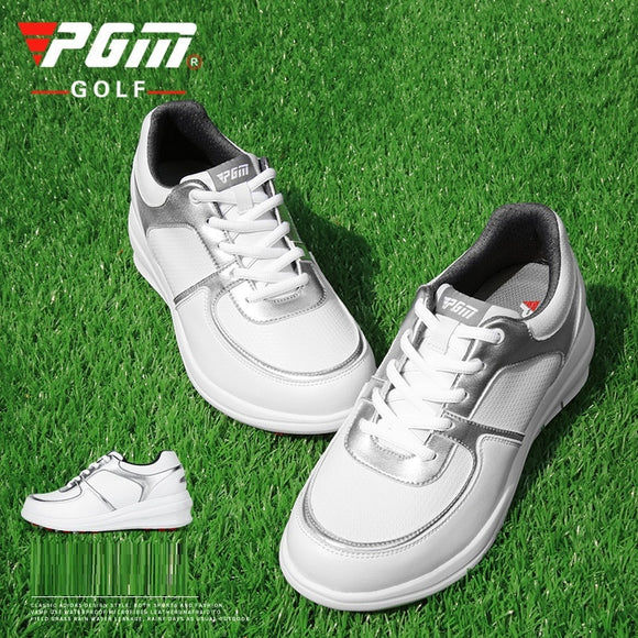 Pgm Women Lightweight Golf Shoes Waterproof Height Increasing Sneakers Ladies Lace Up Sports Shoes Non-slip Trainers D9105