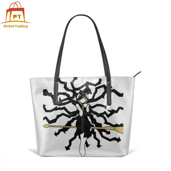 Soul Eater Handbag Soul Eater Top-handle Bags High quality Street Leather Tote Bag Teenage Wide Woman Pattern Women Handbags