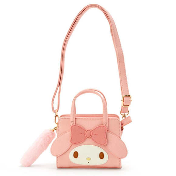 Cartoon Cinnamoroll My Melody Shoulder Messenger Bag Tote Handbag PomPomPurin Cute Mini Small Sling Bag PU Leather Crossbody Bag