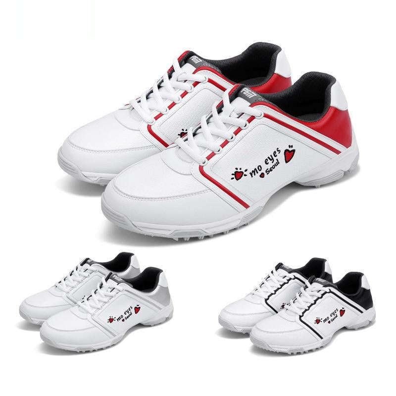 Pgm Women Waterproof Golf Shoes Breathable Training Golf Shoes Ladies Sports Gym Golf Sneakers D9102