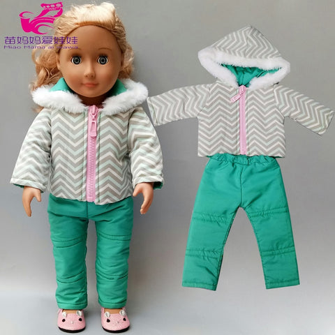Cartoon Printed Dress Underpants Suit 18inch American Doll Summer Clothing