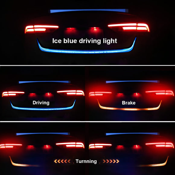 4in1 100/% Waterpoof Blue COB LED Car Pickup Decorative Atmosphere Lights Strips