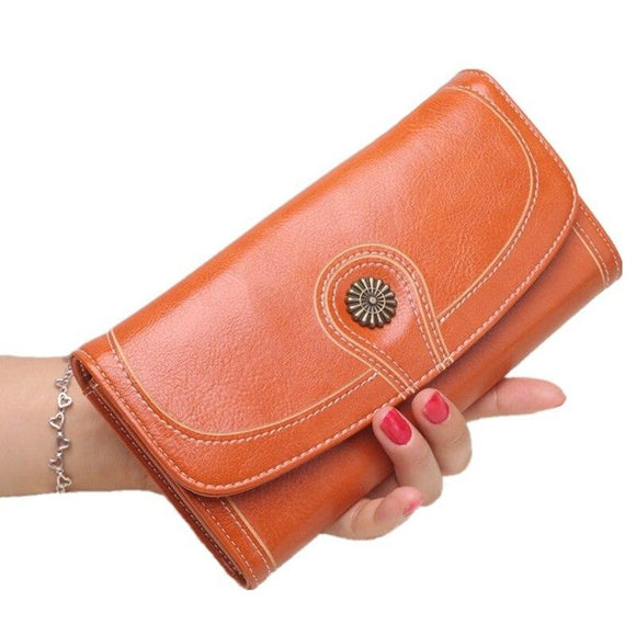 Women's Wallet Leather Long wallet Ultra Thin Envelope Purse Travel Clutch with ID Card Holder and Phone Pocket Men card wallet