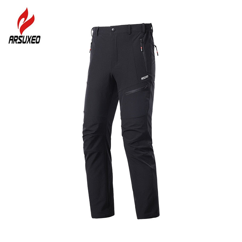 ARSUXEO Men's MTB Pants Cycling Bicycle Downhill MTB Mountain Bike Pants Breathable Quick Dry Outdoor Sports Hiking Trousers