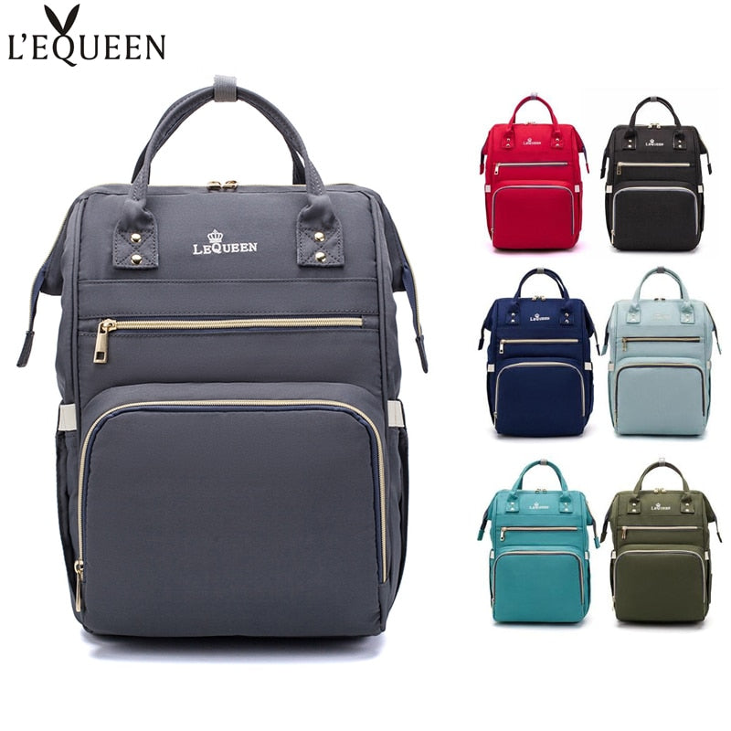 LEQUEEN Diaper Bag Maternity Nappy Backpack Large Capacity Nursing Travel Backpack Heat Preservation diaper bag backpack bolsos