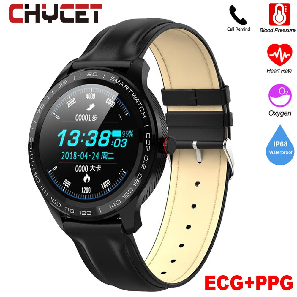 Full touch Smart Watch Men ECG+PPG Heart Rate Blood Pressure oxygen Monitor IP68 Waterproof Bluetooth Call Reminder Smartwatch