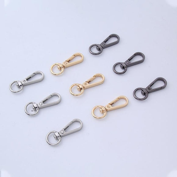 5Pcs/pack Black Swivel Lobster Clasp Clips Hook Keychain Metal Label Quick Clip Keychain Split Key Ring Hot Sale  Birthday Gift
