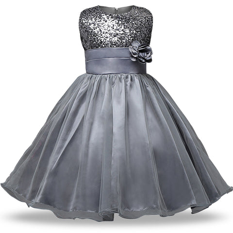 Birthday Princess Girls Dresses Girl Children Clothing Sequin ...