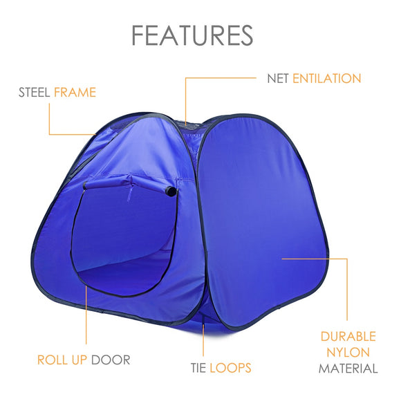 Foldable Pet Tent Dog House Cage Breathable Outdoors Travel Dog Cat Tent Bed Puppy Kitten Exercise Play kennel Fence Playpen