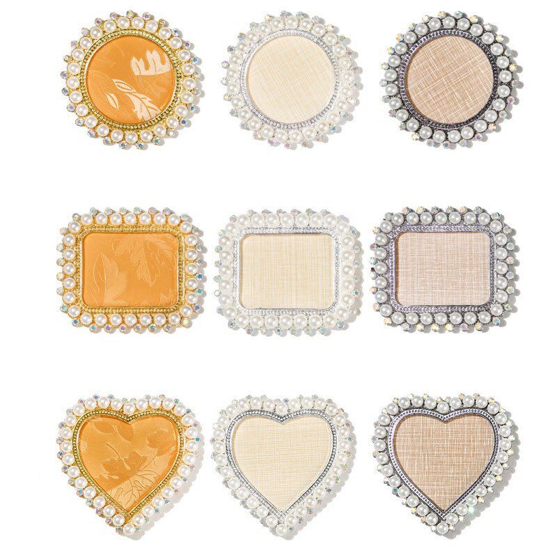 1PC Round Square Heart Sharp Design Rhinestones Pear False Nail Art Plate Display Board Tips UV Gel Nails Polish Color Palette