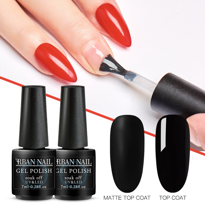 RBAN NAIL 7ml Base Coat Top Coat Matte Top Coat Primer Burst Base Coat Peel Off Base Nail Gel Lacquer UV Led Gel Nail Polish