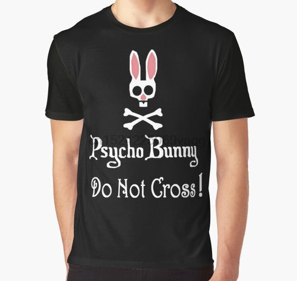 All Over Print T Shirt Men tshirt Watch out Psycho Bunny Inside Do Not Cross Graphic T-Shirt
