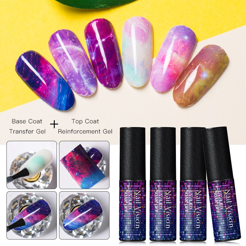 Nail Vision Tempered Top Coat Matte Top Coat Primer No Wipe Top Coat Nail Gel Polish Long Lasting Soak Off UV Lacquer