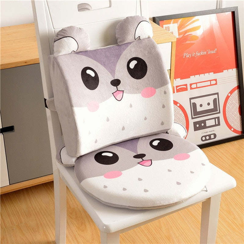 2Pcs/Set Kids Booster Seat Children Dining Chair Back Cushion Baby Cartoon Memory Cotton Circular Cushion Removable High Chair