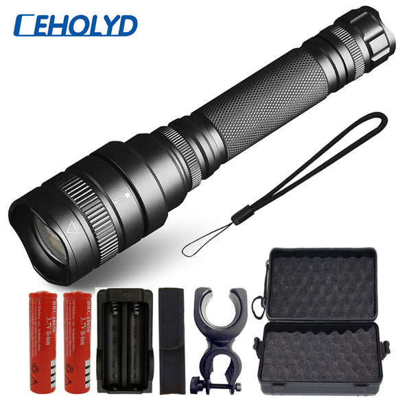 COB 2in1 3000LM 5 Modes Zoomable CREE XM-L T6 LED 18650 Flashlight Focus Lamp