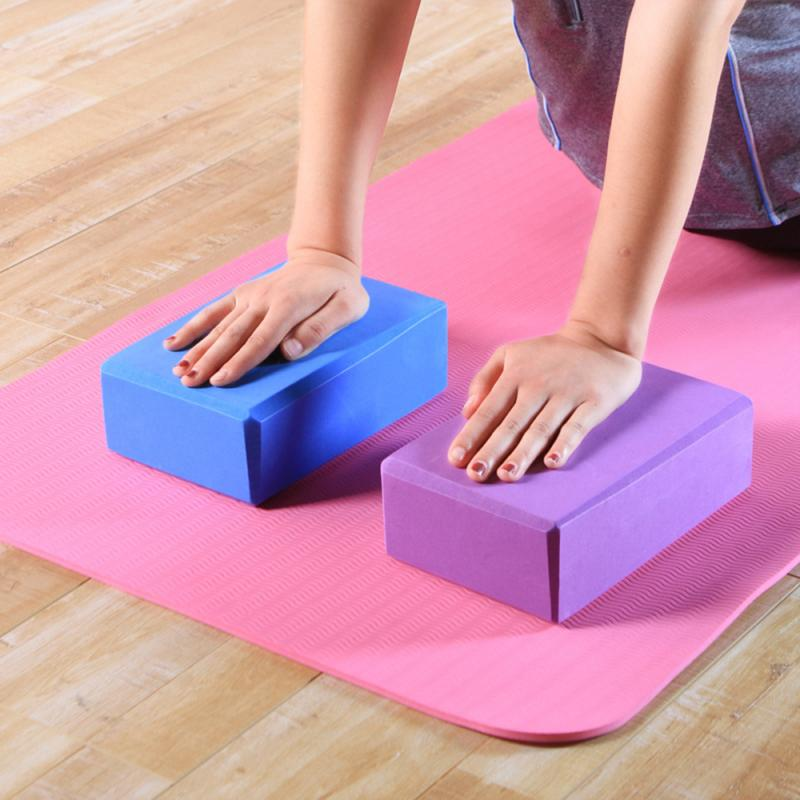 Durable EVA Yoga Movement Colorful Block Brick Foam Gym Home Stretch Health Exercise Props Stretching Aid Body Shaping Training