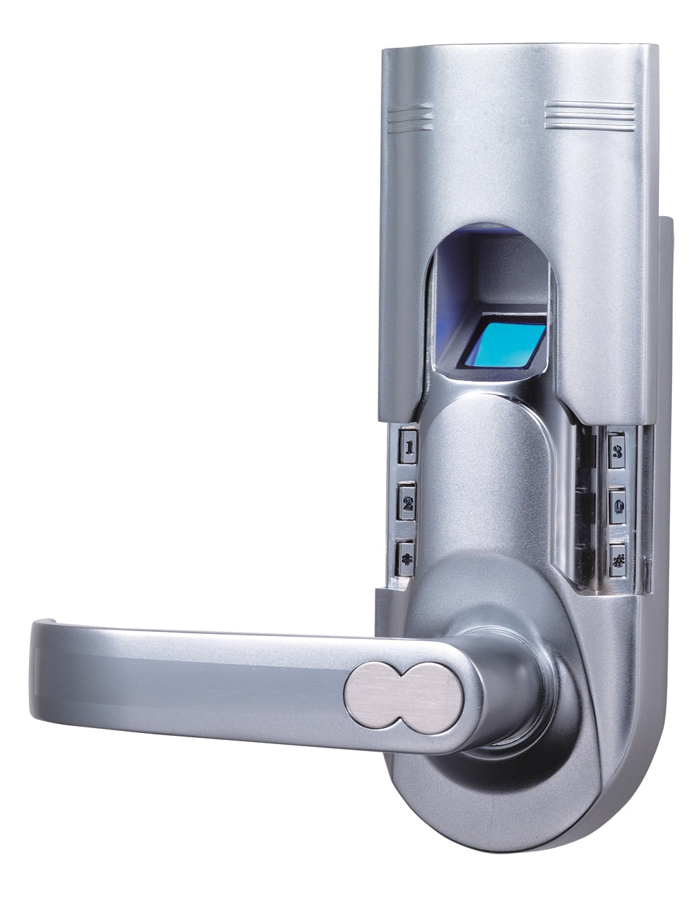 Fingerprint Recognition Single Latch Tubular Model Left Handle Biomatic Fingerprint Door Locks