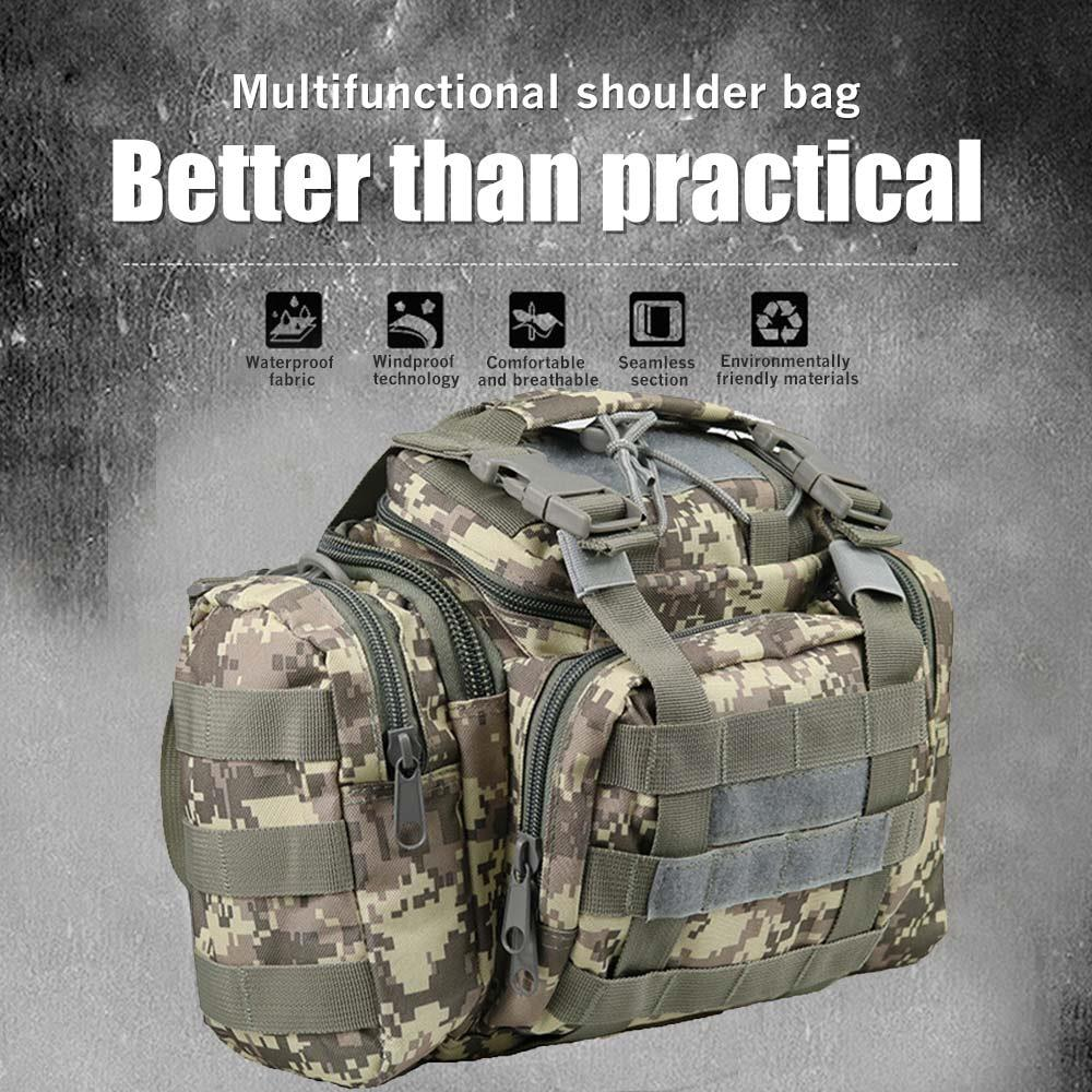 Oxford Cloth 600D 15L Camping Bag Shoulder Bags CrossBody Bag Multipurpose Outdoors Cycling Unisex Chest Pack Fashion