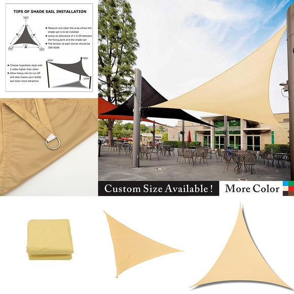 21 Color Waterproof Oxford triangular Shade Sail Garden Terrace Canopy Swimming Sun Shade Outdoor Camping Yard Sail Awnings