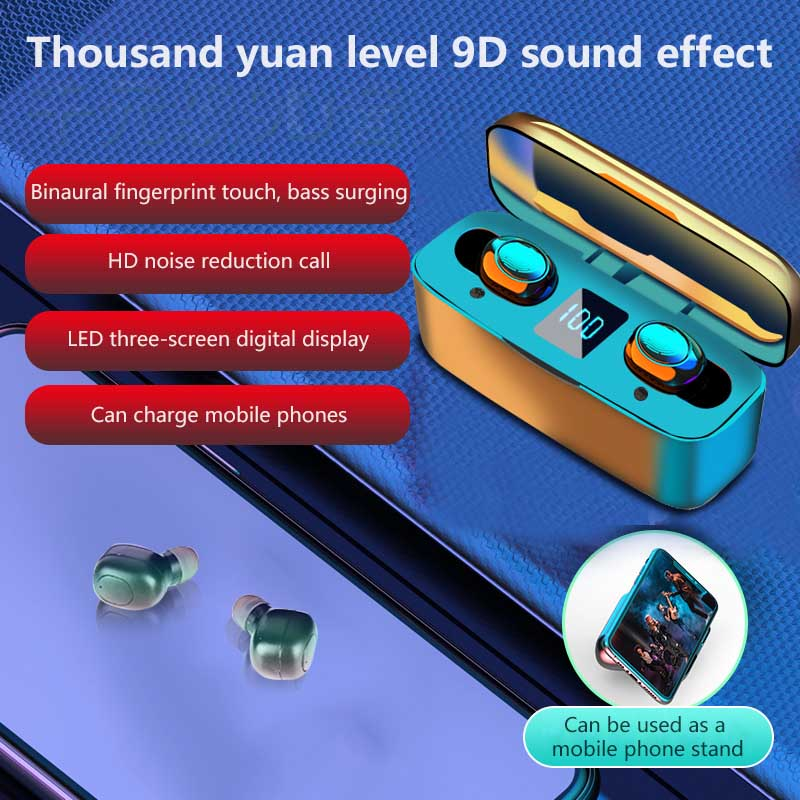 Bluetooth 5.0 Wireless Earphone TWS Touch Control Earbuds 9D Gaming Headset Mini Earbuds For Xiaomi Huawei Samsung Phone
