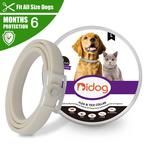 Dog Flea And Tick Collar Anti Insect Ticks Mosquitoes Cat Pet Collar Cat Flea Collars 6 Months Protection for Small Large Dogs