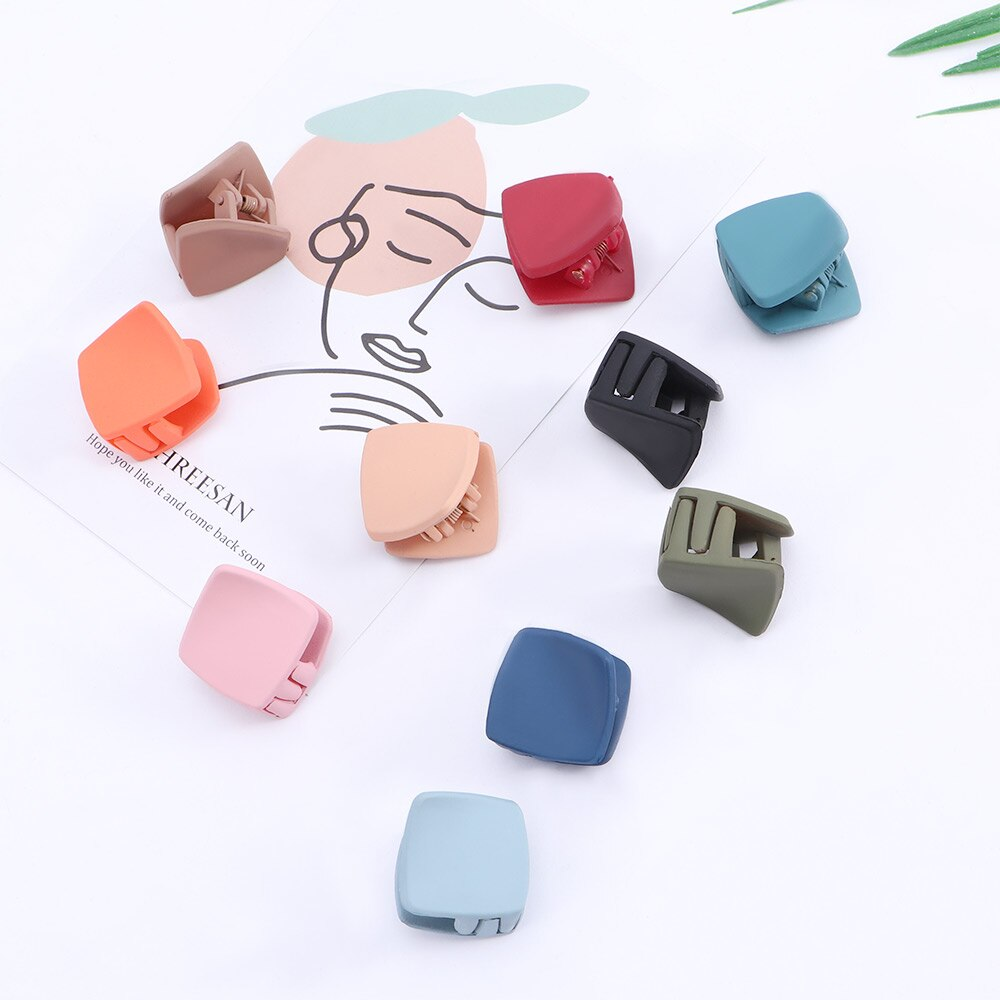 36 pcs cute white dot flower printed Small Hair Clip covers size 35mm mix colors