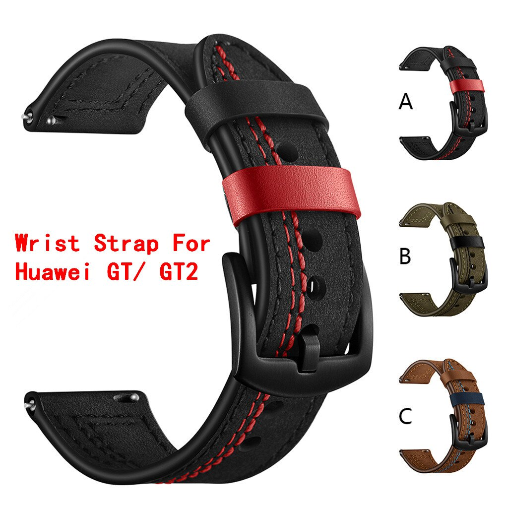22mm Replacement Leather Watch Band Wrist Strap For Huawei Watch GT / GT2 46mm Smart Watch Bracelets Accessories GT 2  #1230