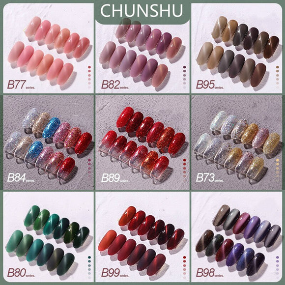 CHUNSHU NEW Nail Art Design Manicure 15ml Chameleon Cat Eye Nail Gel Polish Magnetic Nail Polish Lacquer Varnish gEL Glitter Set