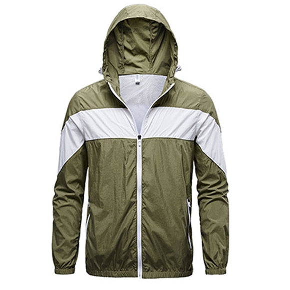Summer Cooling Jacket Men Women Sun-Protective Fan Coat Outdoor Air Conditioning Suit Quick Dry Hiking Clothing