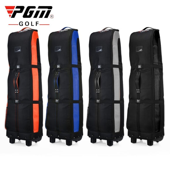 Pgm Golf Aviation Bag Double Thicken Nylon Large Capacity Golf Travel Bags With Pulley Durable Foldable Airplane Bag Cover D0065