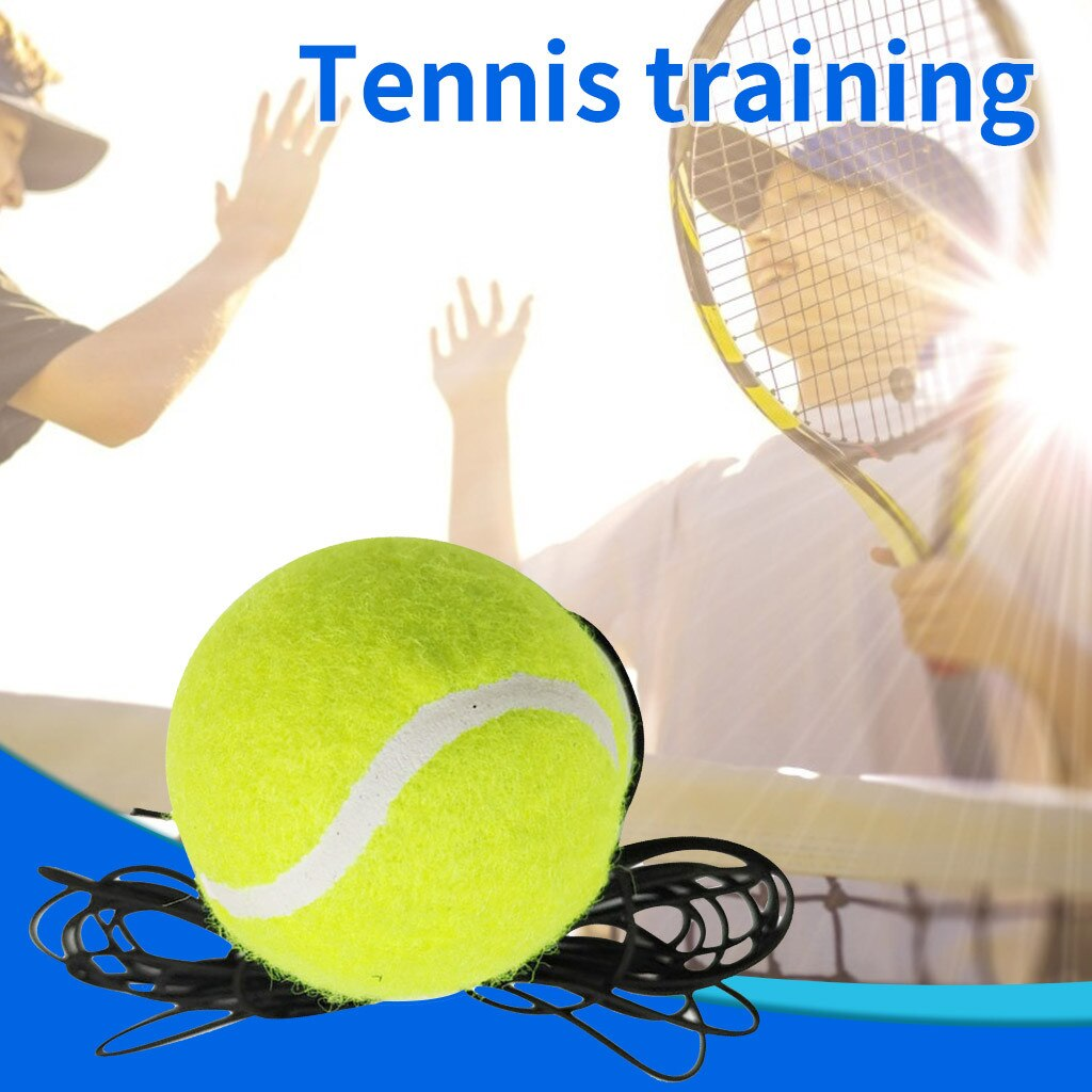 Single Tennis Trainer Training Practice Rebound Balls Back Base Tool with Ball