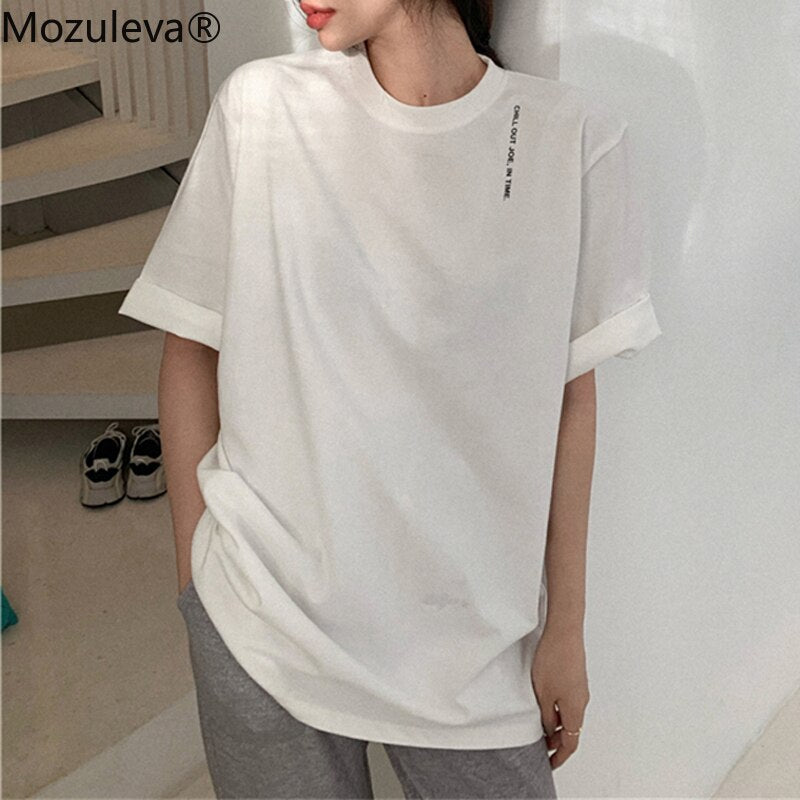 Femme Femme Plaine Solide Top Casual Stretch Turtle Col Haut T-Shirt Basic Tee