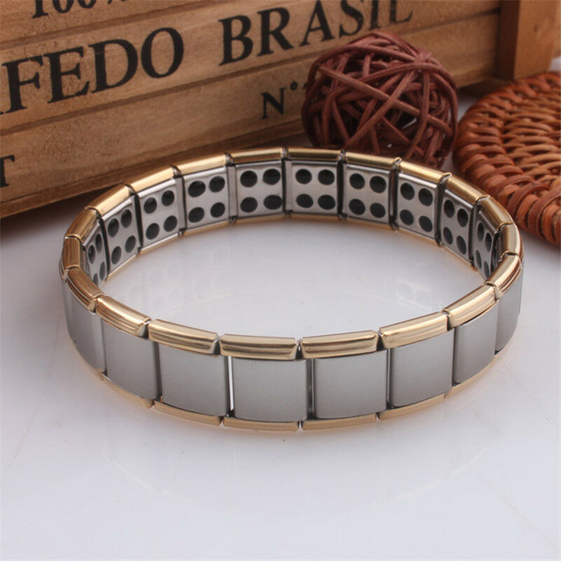 Meihuida Men Classic Simple Style Bracelets Mode Titanium Steel Magnetic Therapy Energy Bracelet  Business Men Jewelry