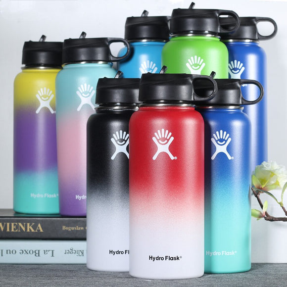 Stainless Steel Water Bottle Hydro Flask 18OZ 32OZ 40OZ Outdoors Sports Wide Mouth Vacuum Insulated Thermal Tumbler Bottle
