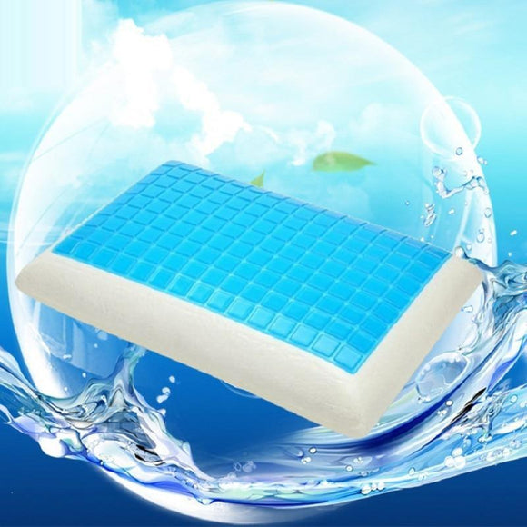 2020 New Summer Cooling Gel Pillow Repair Cervical Spine Neck Pillow Memory Foam For Sleep Insomnia Health Care Silicone Pillow