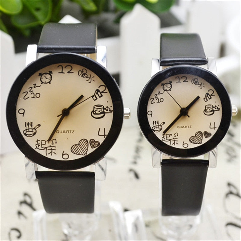 Couple Watch Big Table Simple Men and women Belt Personality Creative Student Trend Romantic Casual Models Quartz Watches 2019